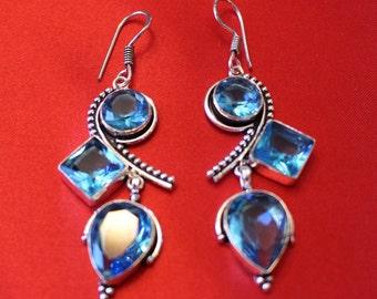 Blue Quartz Earrings!