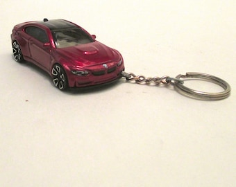 BMW M4 keychain, BMW M4 GTS Car keychain, Sports Car keychain, Two Door Coupe, Mens or Womens keychain, Mens or Womens gift