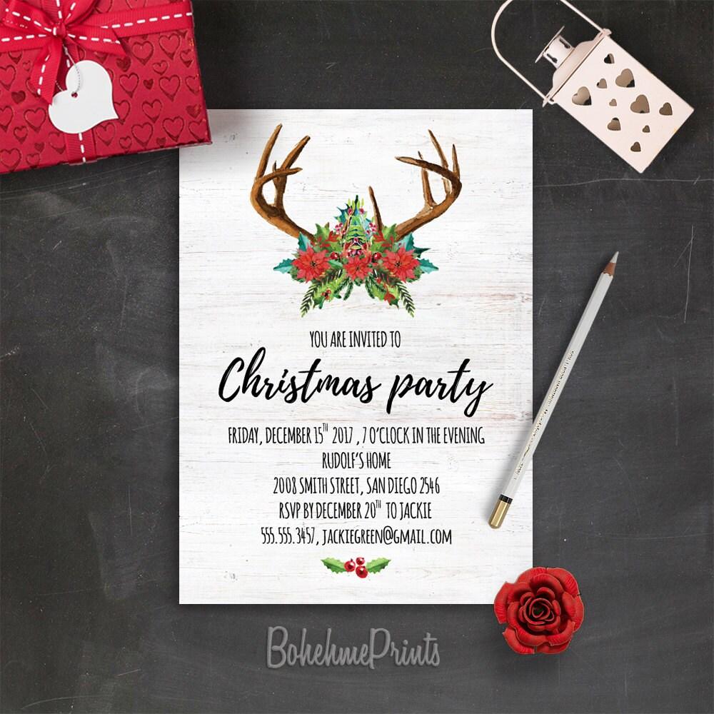 Christmas Party Invitations Printable Holiday Party Invitation