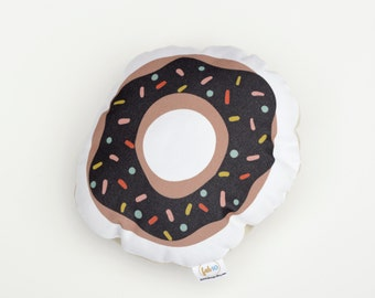 Donut stuffed foodie softie eco friendly baby children baby nursery home decor gift