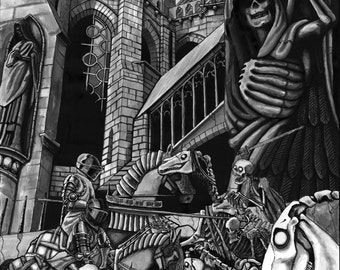 Skeleton army A3 poster.