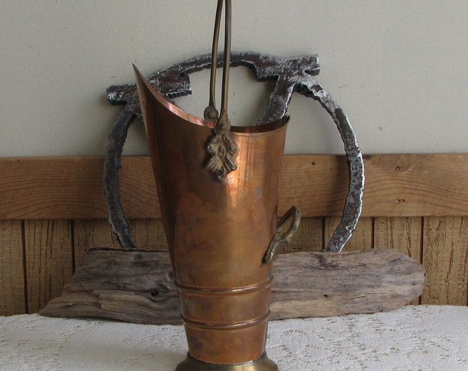 Copper Coal Scuttle Fireplace and Home Décor Ash Bucket