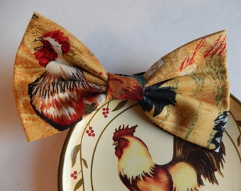 Roosters hair bow Handmade Hair Accessory