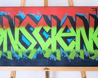 """Graffiti """"Find Your Conscience"""" Painting"""
