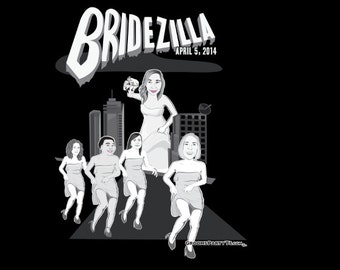 Bachelorette Party or Wedding Party T-shirts