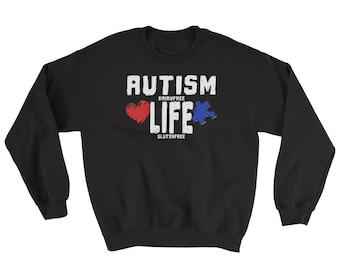 Autism Life Awareness Dairy Free Gluten Free Sweatshirt
