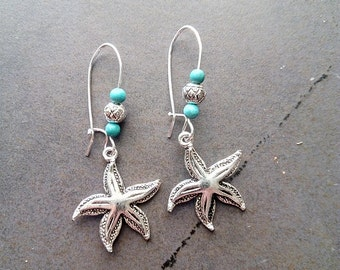 Starfish with turquoise