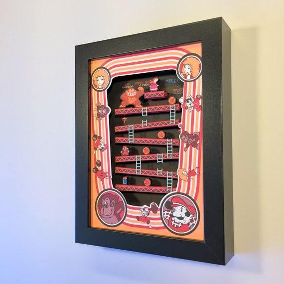 "Donkey Kong Arcade Shadow Box 3D 5""x7"""
