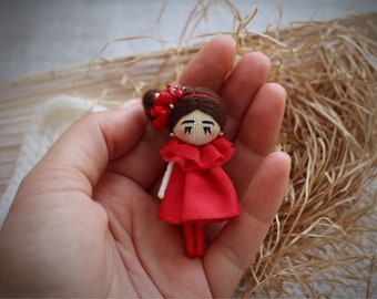art doll brooch