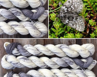 Mountain Moth Miniskein 20g, merino nylon blend indie sock yarn