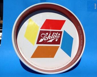 Vintage Retro Schlitz beer tray