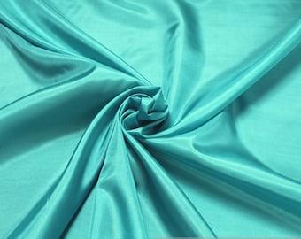 2 meters polyester taffeta aqua lining brillance soft EUR 3.40 / meter