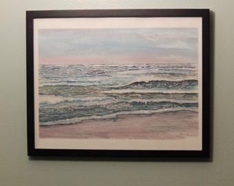 Blushed Ocean Watercolor