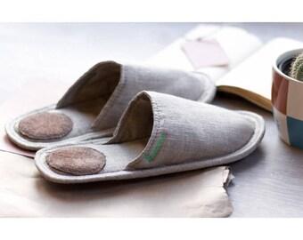 Women Slippers, Linen Slippers For Women, Gift Slippers, Light Slippers,  Closed Toe