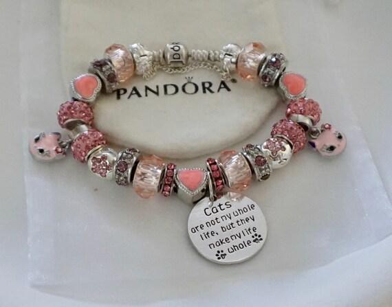 Cat Lover Crazy Cat Lady Authentic Jared Pandora bracelet
