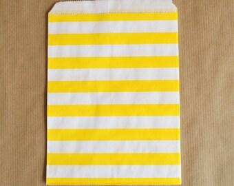 5 bags orange and white chevrons 13 x 18 cm