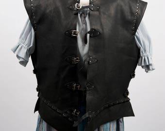 Puerto Diablo leather pirate jacket 17th century clothing doublet waistcoat costume game of thrones cosplay larp warcraft handmade ren fair