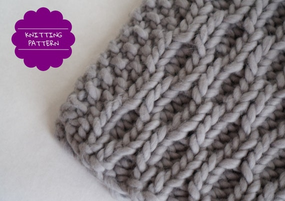 Cable scarf knitting pattern - textured scarf pattern - cabled ...