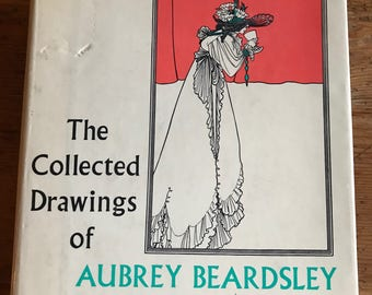 the collected drawings of aubrey beardsley 1967 hardcover vintage art book