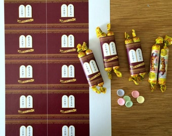 Bat Mitzvah Printable, Printable Torah candy bar wrapper RED, Bat Mitzvah Favor, Bar Mitzvah Favor, Bar Mitzvah printable, instant download
