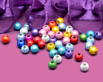100 beads 4mm multicolored magical miracles