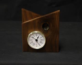 107 Black Walnut Desk Clock