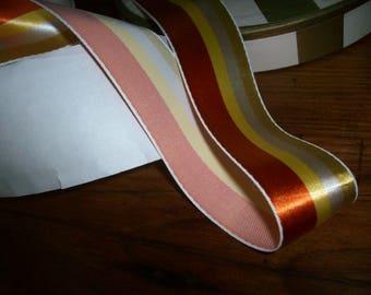 2 yds.1940s stripe of pretty shades ribbon stripe