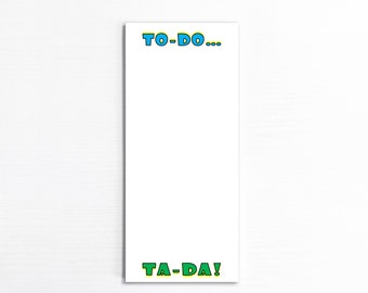 To-Do, Ta-Da Notepad, Funny Handmade Paper Pad, Things To Do List, Memo Pad