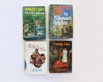 Four Dorothy Eden Novels (Romantic History Mystery), Hardbound (Hardcover or Hardback) Books with Dust Jackets, in Great Condition