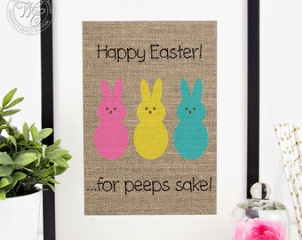 Easter Decor, Easter Home Decor, Easter Sign, Easter Wall Art, Rustic Easter Decoration,  Easter Wall Decor, Spring Decor, Peeps