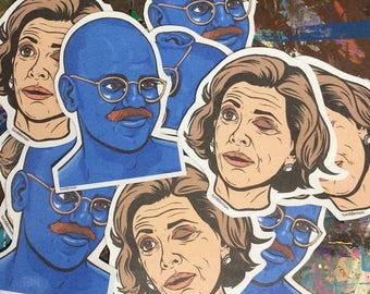 Tobias Funke and Lucille Bluth Sticker Pack
