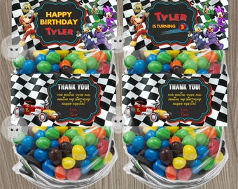 Mickey Mouse Roadster Racers Bag Toppers, Mickey Mouse Roadster Racers, Mickey Mouse Birthday, Mickey Mouse Bag Toppers, Goody Bags