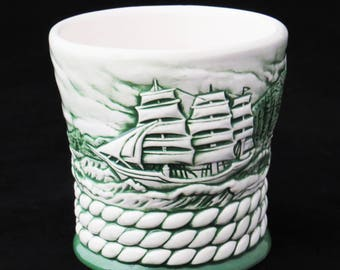 Vintage CUTTY SARK WHISKEY Glass or Grog Mug - Ceramic Clipper Ship Mug from Thailand / Great Man Cave Gift