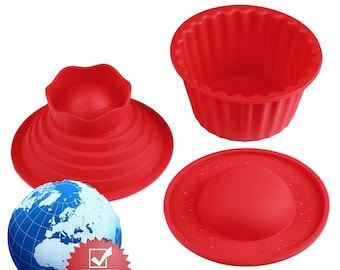 3 Pack Giant Big Silicone Cupcake Cake Mold (Free Shipping)