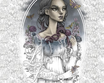 Zombie Princess Coloring Pages : Adult coloring book etsy