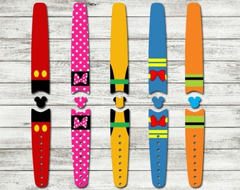 Character Waterproof Disney Magic Band Skin or Decal 1.0 and 2.0 RTS Ready To Ship Disney Sticker for Magic Bands