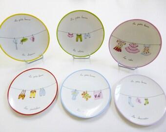 """Porcelain plates """"the little laundry"""""""