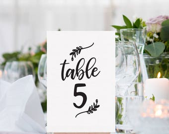 Calligraphy Wedding Table Numbers 1-30, Instant Download | Wedding Reception Decor, Table Numbers, Wedding Seating Numbers, Printable