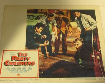 50% Off ~ Vintage 1958 Lobby Card. 'The Party Crashers' - Teen / Juvenile Delinquency film
