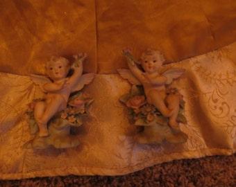 Lefton Angel or cherub Figurine Set of 2 vintage angel antique angel