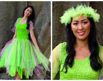 Adult Fairy Halloween Costume ~  Mardi Gras  ~ Cosplay Costume ~ Party Dress ~ Masquerade Parade ~ Theatre ~ Fantasy