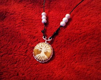 white tree necklace
