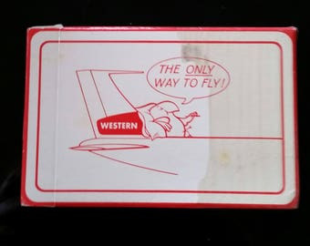 vintage WESTERN AIRLINES deck of Playing Cards sealed