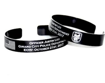 Officer Justin Leo Memorial Bracelet
