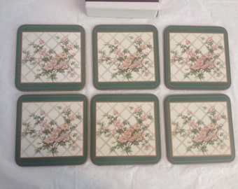 Romantic Rose Pimpernel Coasters Set of Six in Box