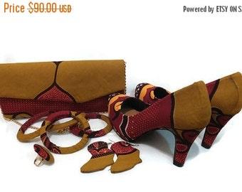 Mustard,Floral ,Yellow Ankara bag,Ankara Shoe,Ankara accessories,African print shoes,African print bag,Ankara earrings