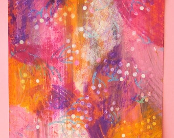 Pink rush 1 - abstract - originale - abstract paint