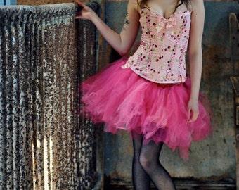 Streamer adult tutu skirt princess pink halloween costume knee length dance halloween dress up --You Choose Size -- Sisters of the Moon