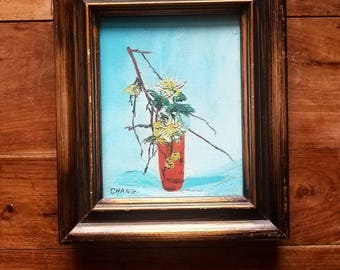 Oil on Canvas Painting by Chang, Mid Century Art, Original Art, Original Painting, Impressionist Art, Chang Artist, Still Life Painting