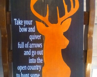Hunters Man Cave Signs : Hunter bible verse etsy